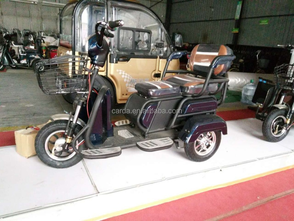 cabin electric scooter for adults/elderly/disabled bajaj cng scooters tricycle small mini family used escooter