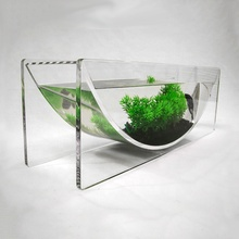 Nieuwe Home Decoratie Lucite Materiaal Clear Kom <span class=keywords><strong>Aquarium</strong></span> visteelt tank