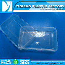 Clear commercial microwave safe plastic container packaging for food