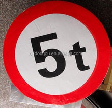 self-adhesive weight limit sign board