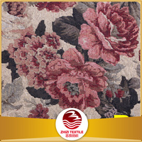 Zhejiang supplier 2017 Fashion Newest design 70% polyester 30% cotton woven florals vintage home decor sofa jacquard fabric