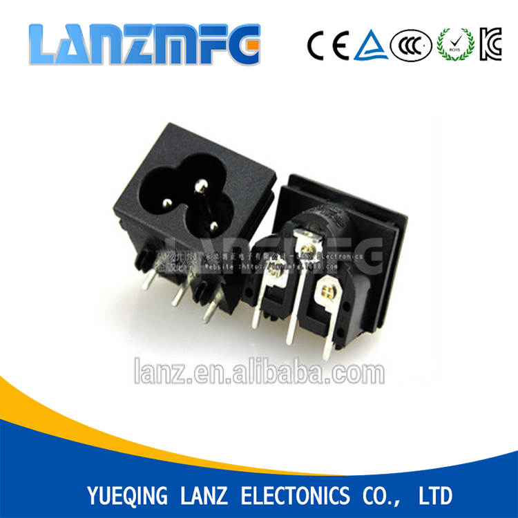 LANZMFG AC Power SOCKET IEC 60320 C6 WITH PCB PIN TERMINAL