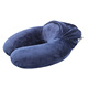 Adults folding travel neck pillow space saving and recovering foam business travel neck pillow