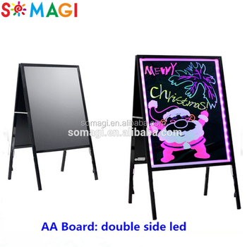 A Frame Led Drawing Board - Free Standing Children\'s Writing Board ...