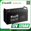 Bluesun deep cycle battery 12v 120ah rechargeable batteries for solar system
