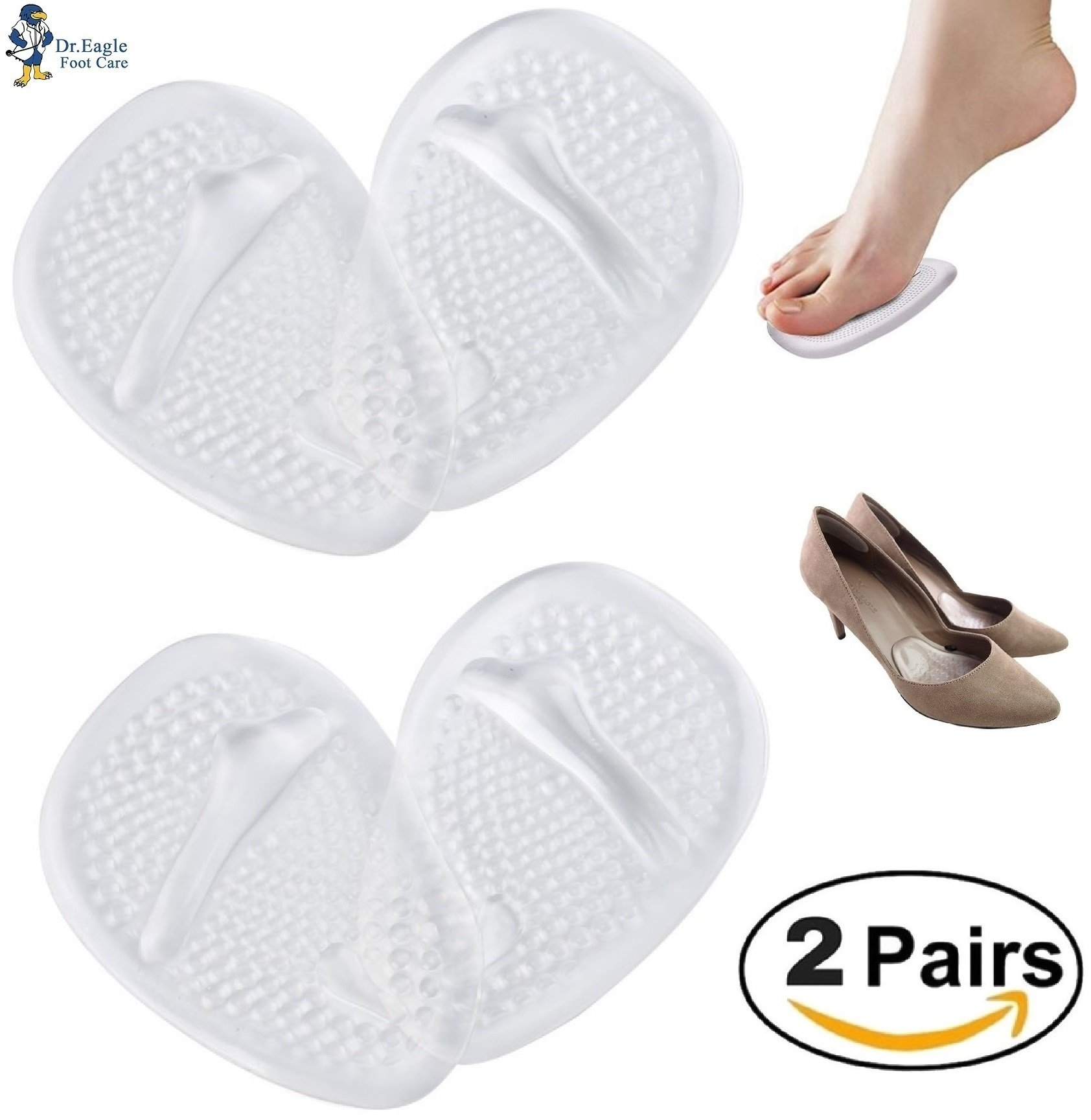 d9f6596c2faf83 Get Quotations · Medical Gel Forefoot Ball of Foot Cushions Shoe Insoles  Metatarsal Pads women shoe inserts for foot