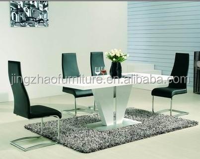 Eetkamer Wit Hoogglans : Dt 2007 moderne wit hoogglans houten eetkamer sets voor eetkamer