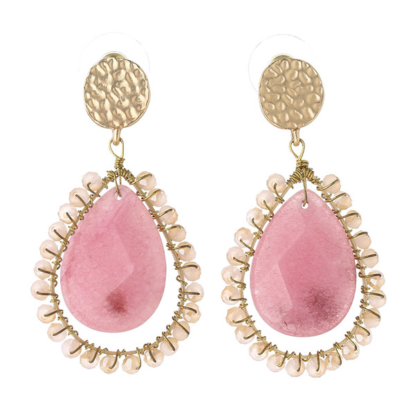 jewelry making supplies natural stone crystal earring