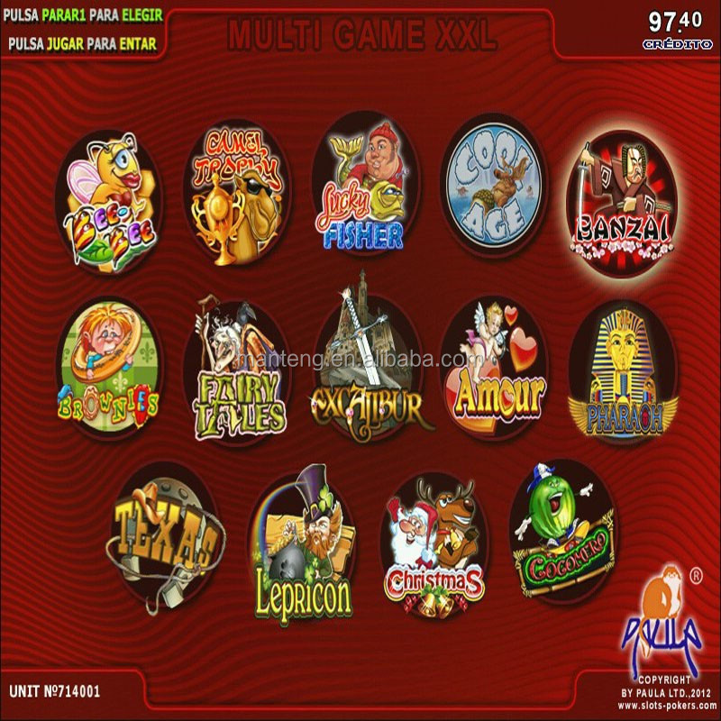 XXL 14 in 1 Multi games board/ casino slot game pcb