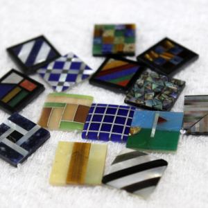 Shell mosaic for custom cufflink(MOP shell,cat eye stone,sodalite,tiger eye,etc)