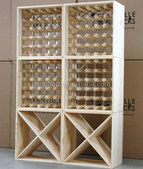 Toda la madera estante del vino cl sico cuadrado - Mobili per cantine ...