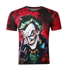 Customised Clothing, 3d Printing Short Sleeve Clown Pattern T Shirt