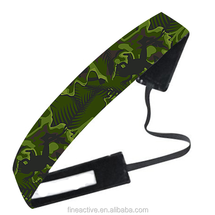 OEM High Quality flower moisture wicking dry fit custom sport yoga headband