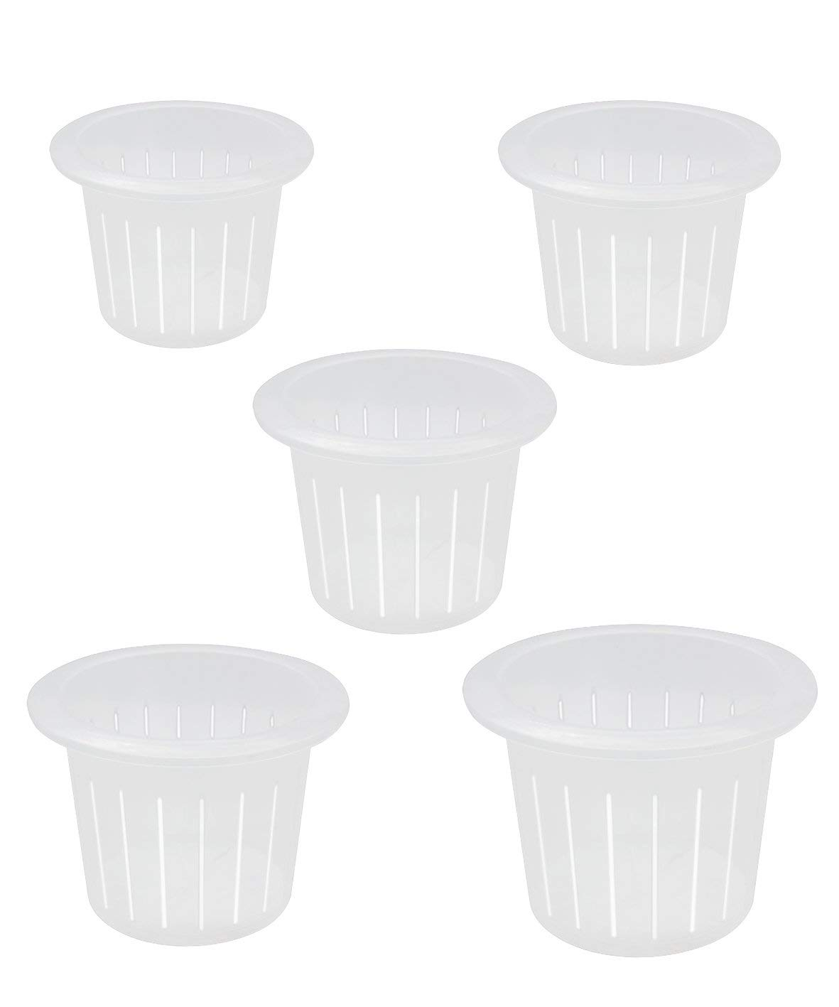 """coisound 1688 Orchid Breathable Slotted Clear Plastic Pot - Growers Assortment (10 pots - Two of them are 4"""",5"""",6"""",7"""",7.5"""")"""