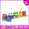 Customize educational shape building wooden children stacking blocks W13D026