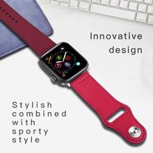 Ремешок из натуральной кожи для Apple Watch 42 мм серии 5 4 3 2 1 полоса 44 мм 42 мм 38 мм 40 мм ремешок для iwatch 4 3 2 браслет(Китай)