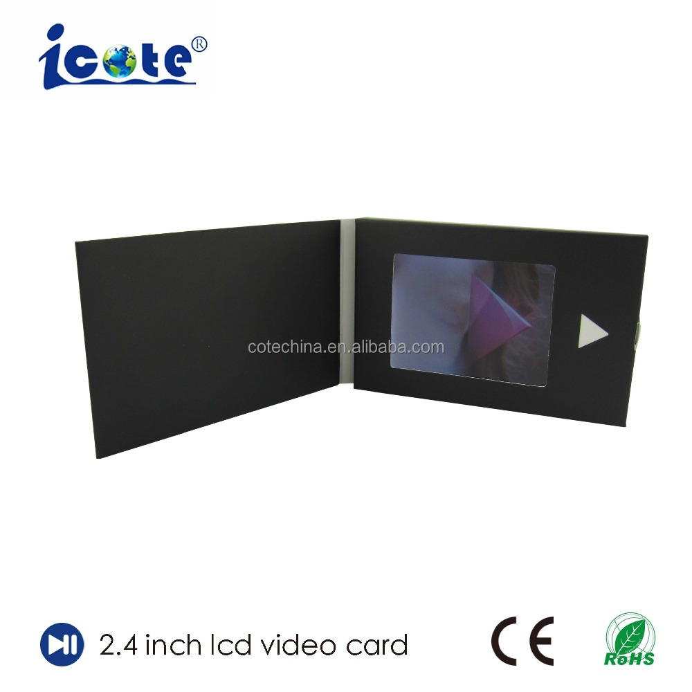 2.4 Inch Popular Promotional With Printing Video Music Record Greeting Gift Card