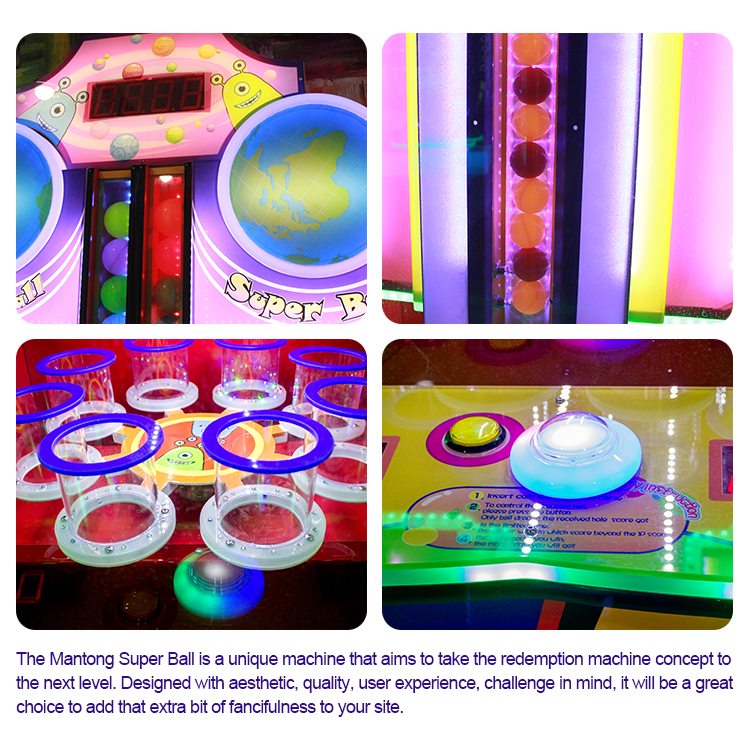 redemption game machine lottery ball electronic games machine for kids
