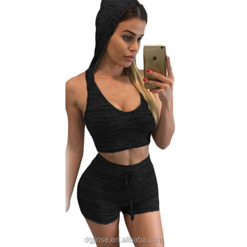 64d10c541b653 The new fashion sleeveless low-cut crop top hoodies tall waist tight sexy  fancy bra