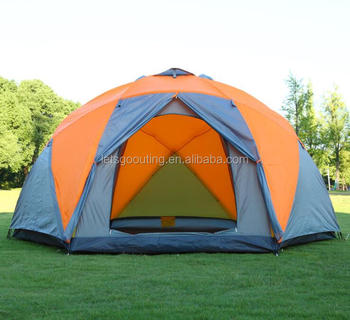 10 Persons Large 4 Season Family Camping Bell Tent Safari Tent for Outdoors(HT6029-6)
