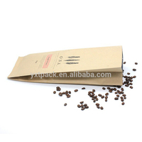 Aluminum Foil Lined Kraft Paper Embossed Square Block Bottom Coffee One-way Valve Packing Bag With Zipper