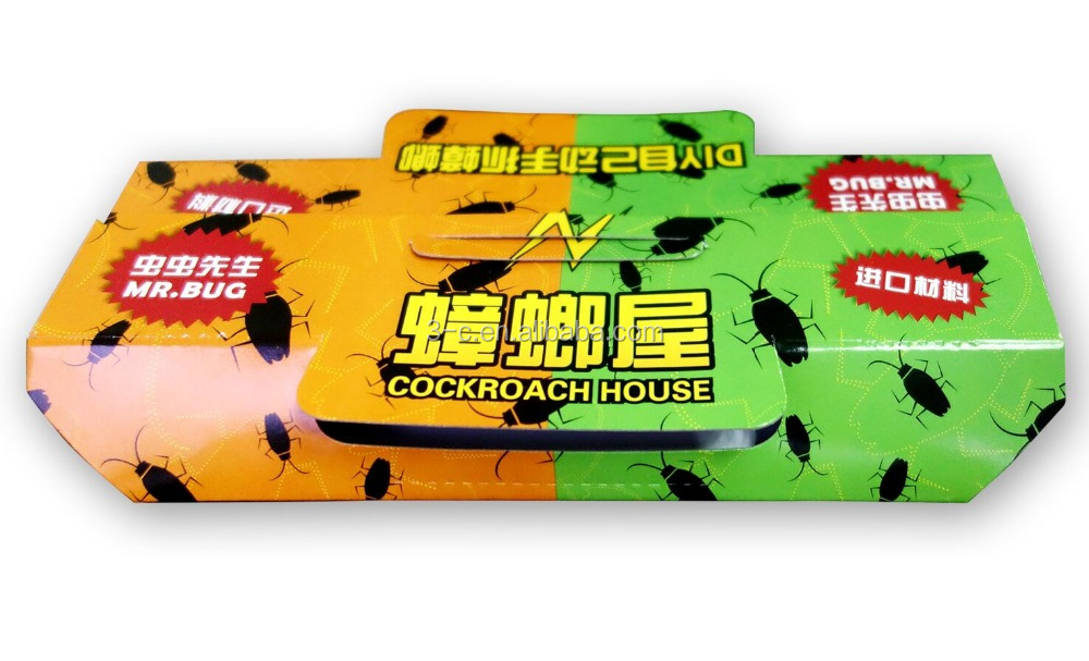 Mr Bug cockroaches trapper house, trap German or American Roaches, Ant Spider Roach Trap cockroach glue trap Non-toxic