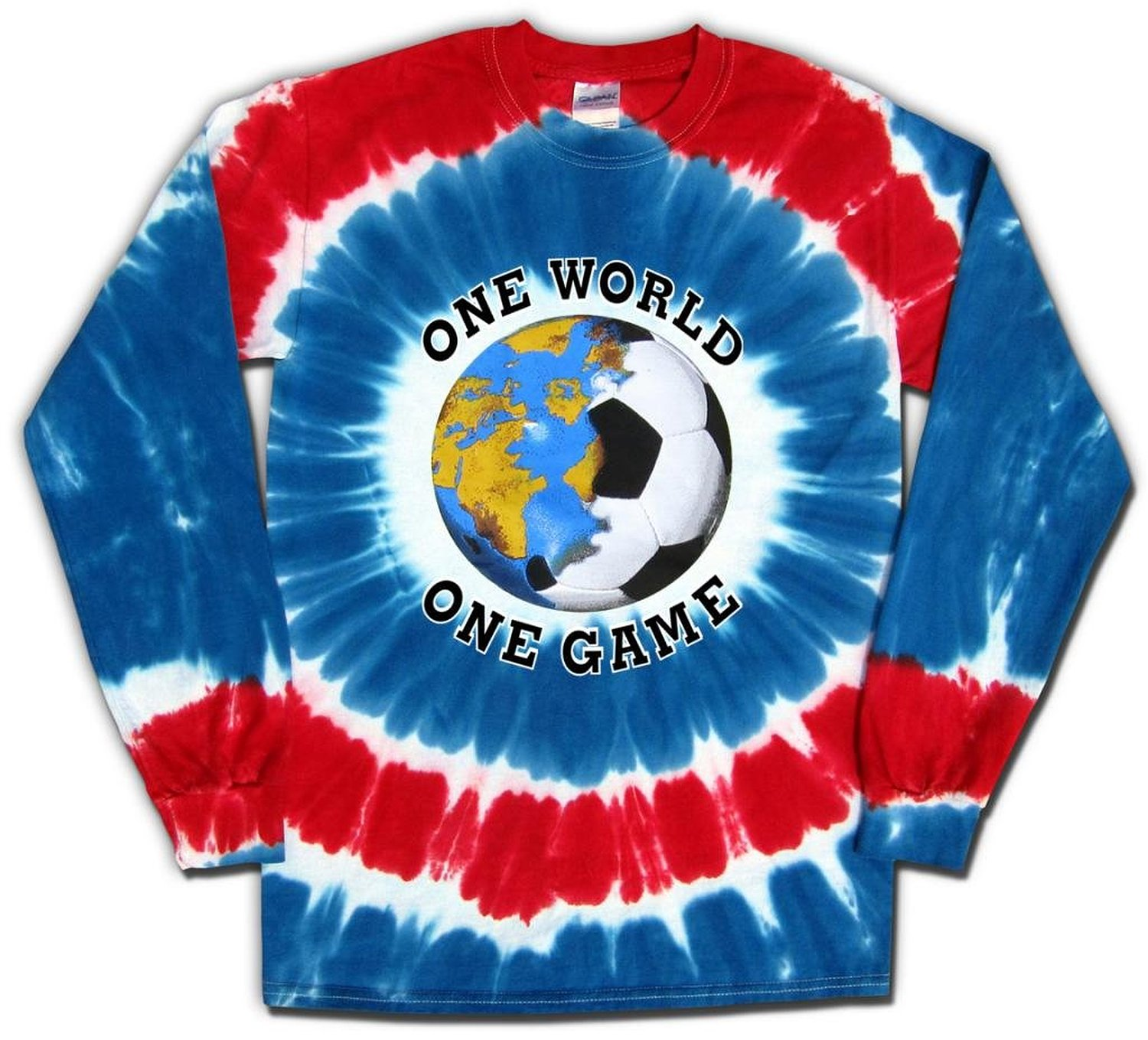 USA Soccer One World Tie Dye T-Shirt Jersey Long Sleeves