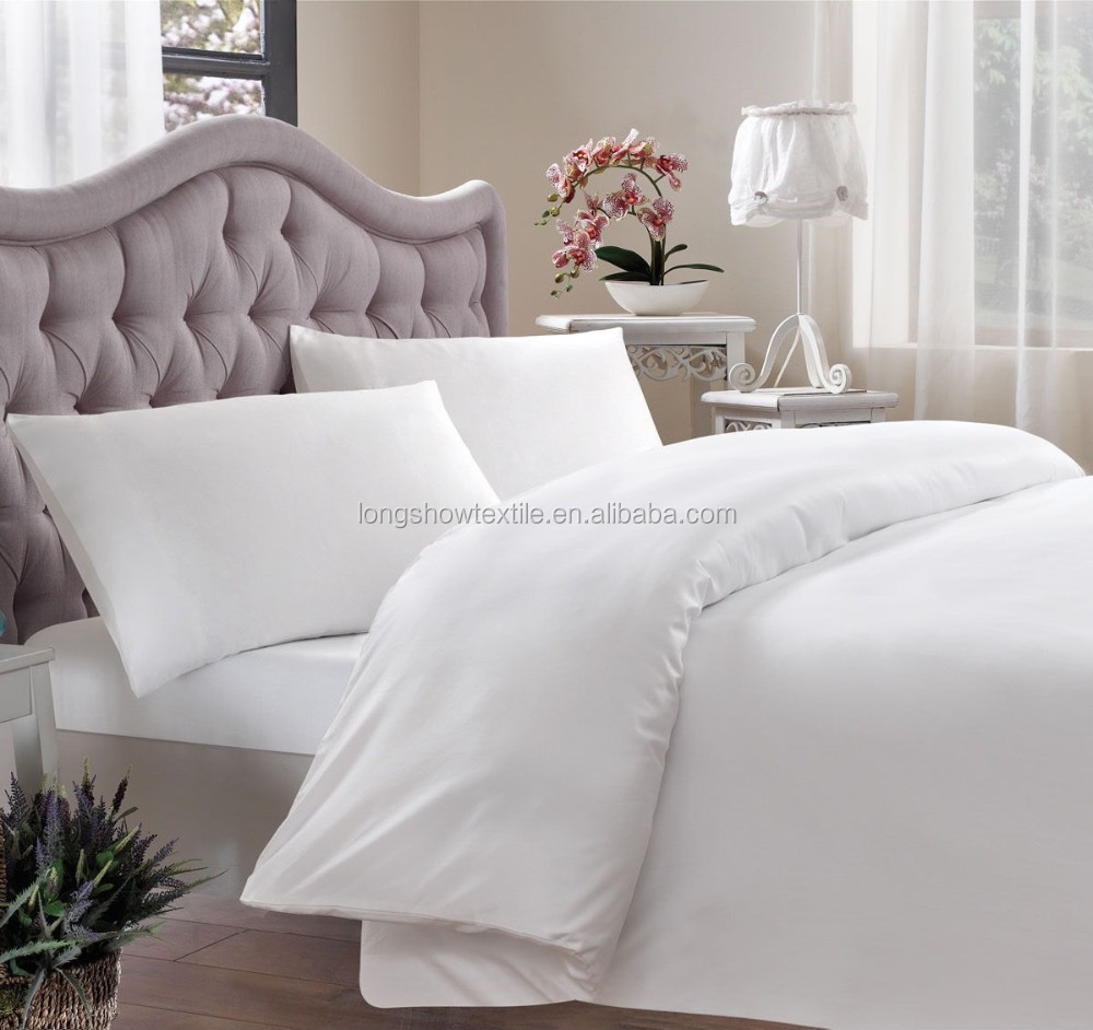 Hotel White Cotton Duvet Cover Sets With Good Hand Feeling Buy