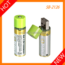 Powerful rechargeable usb dry AA batterIes 1.5v dry batteries cell