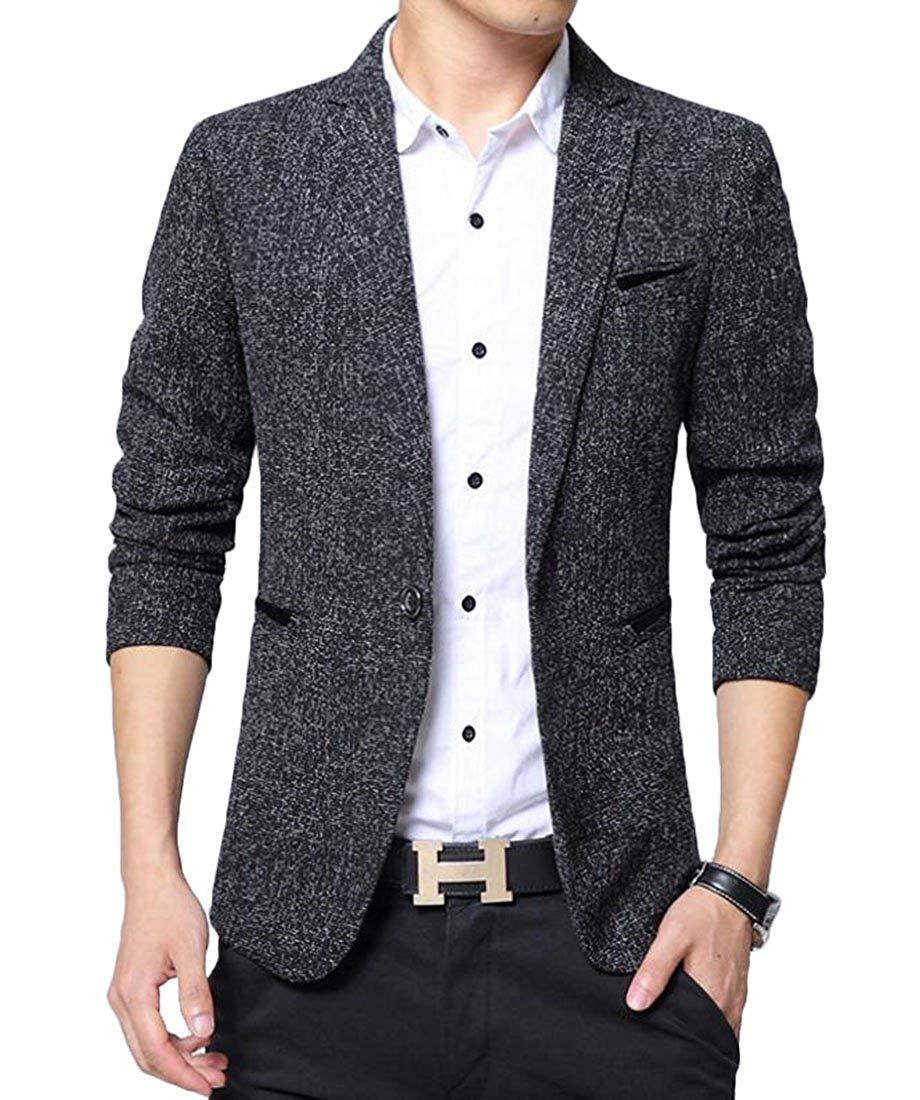 Sheng Xi Men Slim Fit Open Front Cotton Blend British Style Suit Vest