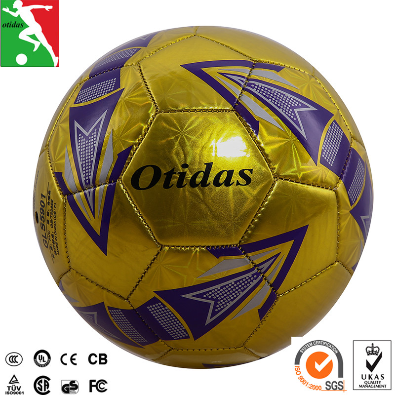 pvc leather sewing stitched promotion design cheaper soccer ball football Metal foam laser PVC materials FOOTBALL BALL