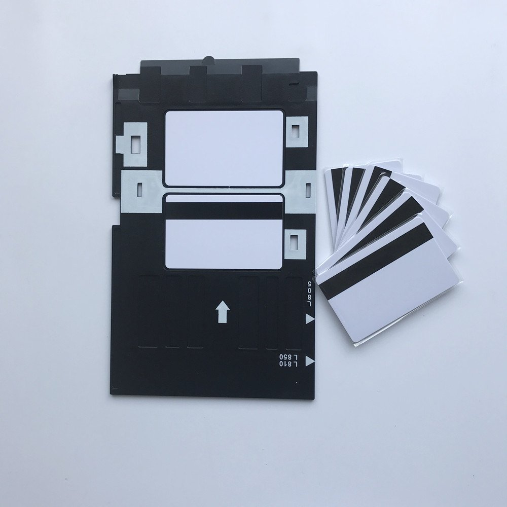 PVC ID Card Starter Kit - HiCo Inkjet PVC Cards & PVC Card Tray for Epson R280, Artisan 50, P50, R260 (and others) (10)