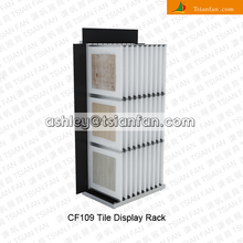custom hot sale book swinging type display stands for ceramic tiles/marble and granite tile display stand CF109
