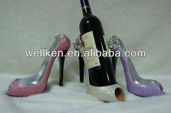 Polyresin Shoe Shape Wine Holder Bottle High Heel Product On Alibaba