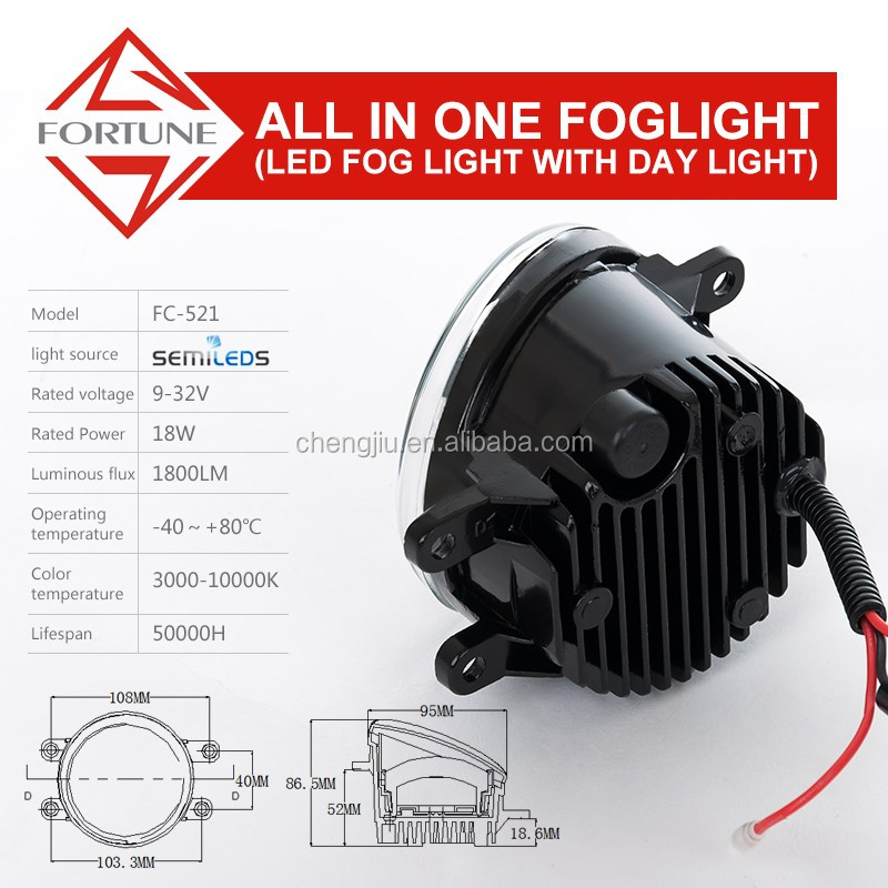 2016 Best Price and High Quality Motorcycle LED Fog Lights for Toyota Wish Camry Axio RAV4 Fog Light toyota fortuner 2016 price