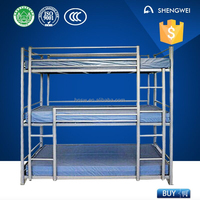 Commercial furniture general use modern triple metal bunk beds