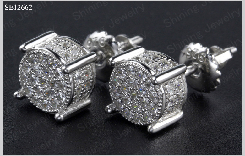 round micro pave lab created diamond vvs mens hip hop
