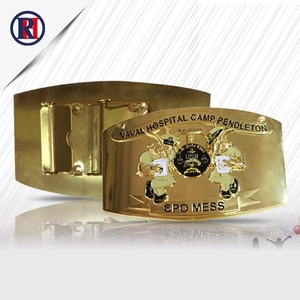 Supplier china custom made OEM 38mm bulk military jeans 3d men gold belt buckles