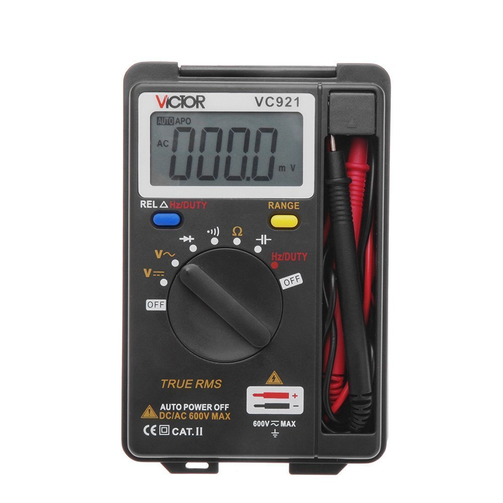 Urhelper Victor VC921 Mini Portable Handheld Digital Multimeter Auto Range Data Hold Function