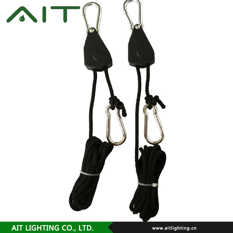 Eses Ratchet Pulley Hangers Rope Clip Greenhouse Gardens Plants Growing 4 Pairs