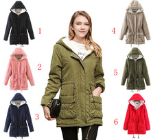 Coldker Winter Jacke Frauen Dicke Warme Mit Kapuze Parka Mujer Baumwolle Padded Mantel Lange <span class=keywords><strong>Absatz</strong></span>