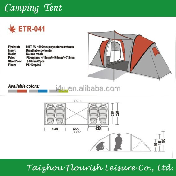 outdoor Family picnic outdoor solar Camping Tent/ 4 seasons mountain tents camping