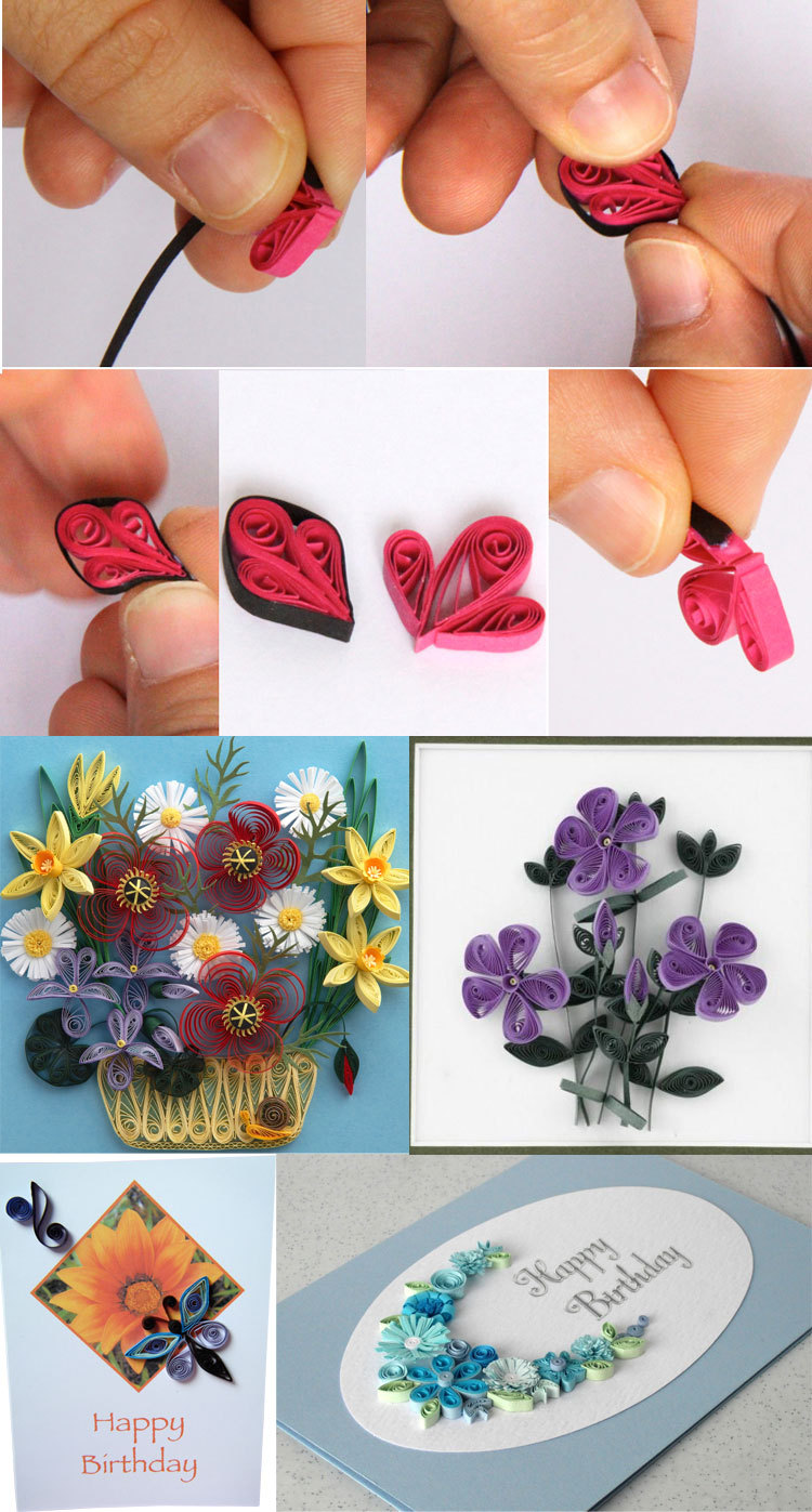 Free Handicraft Paper In Easy Handmade Cards Paper Quilling,bright Color Paper Strips