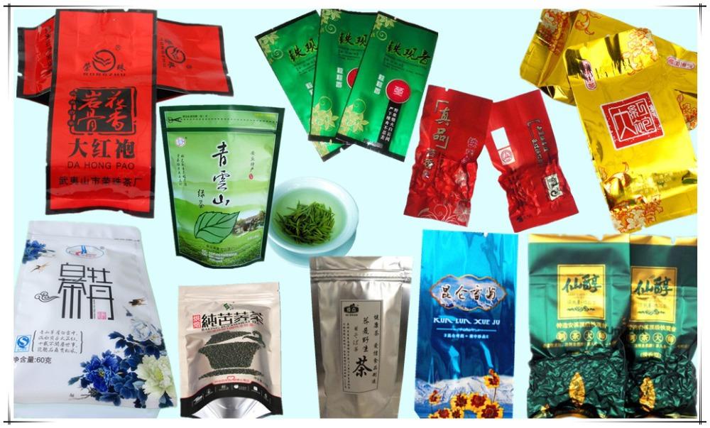 Opp/vmpet/pe Plastic Recycle Aluminum Foil Tea Bag With Ziplock ...
