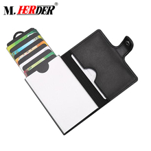 Factory price RFID blocking I clip wallet metal id card holder money clip metal