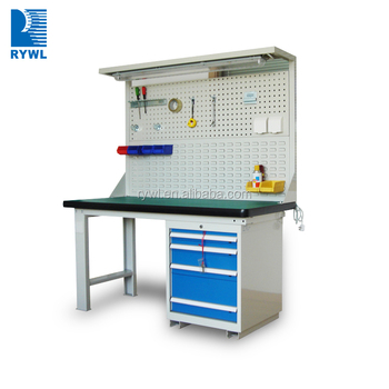RWK 2F 2104DD Mechanical Stainless Steel Work Table Drawers With Tools  Storage Cabinets
