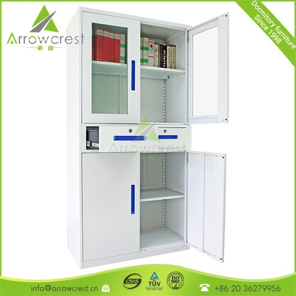 Glass door filing medical apothecary cabinet