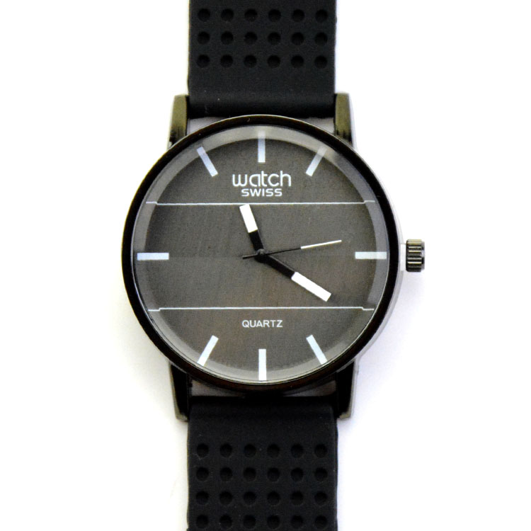 Best Selling Hot Products Black And White Face Watch Silicone Strap Men Sport Watches