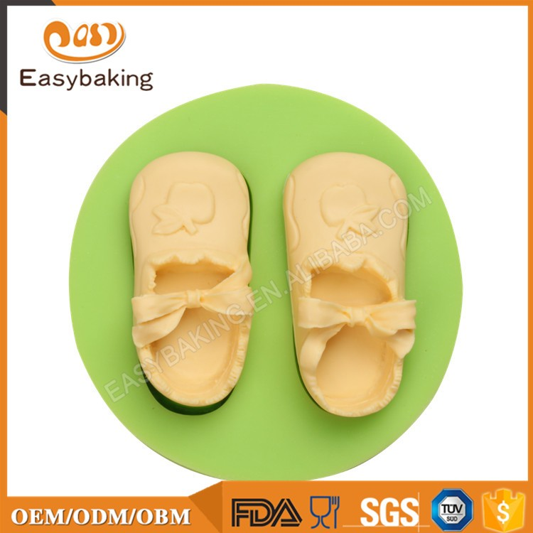 ES-1121 Baby shoes Silicone Molds for girl