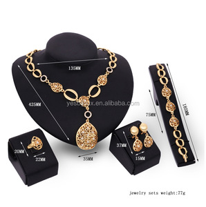 famous german design gold filled full jewelry sets